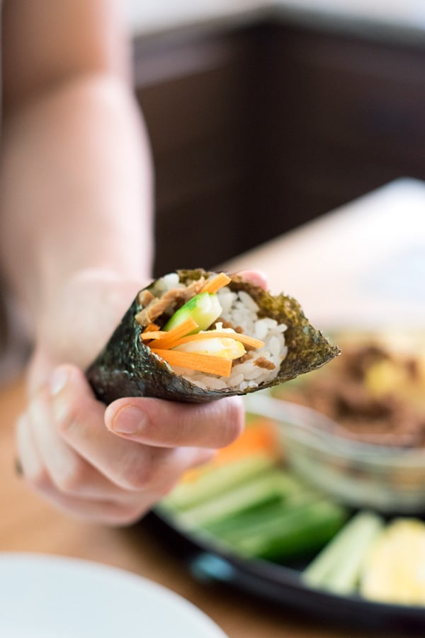 Canned Tuna Sushi Hand Rolls