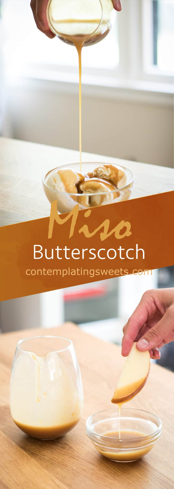 Miso butterscotch: Sweet and salty butterscotch gets a hit of umami from miso! This miso butterscotch will be your new favorite fusion dessert.