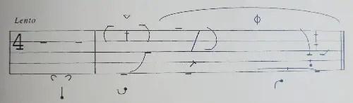 Choreology, Benesh notation image