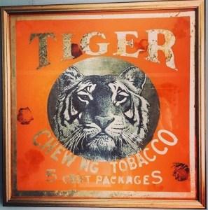 tiger glass India tobacco mirror