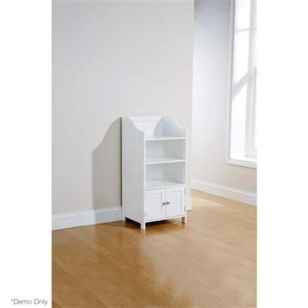 Grace 2 Door Deluxe Cupboard in WHITE
