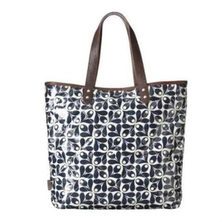 Orla Kiely Laptop Tote Shoulder Bag | Navy | Tulip