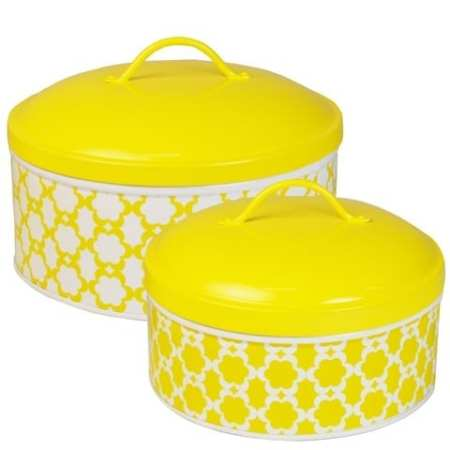 Medallion Geometric Cake Tin Set | Yellow | Madrass Link