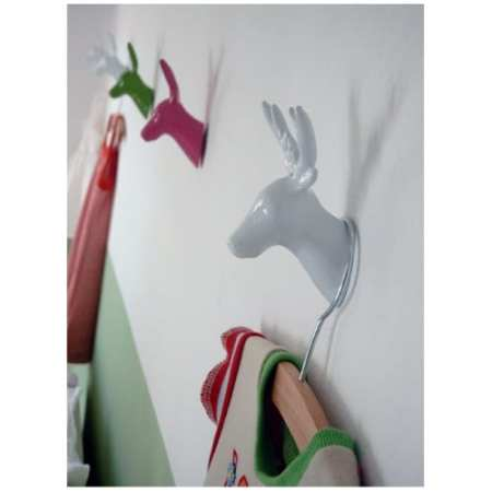 Deer Wall | Coat Hook - White