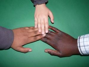 hands three skin tones