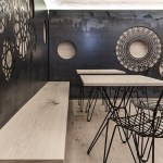 Decorative Motifs Cover The Walls Of This Italian Cafe