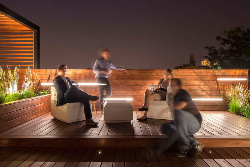 Dspace Studio Designed A Rooftop Social Space With City