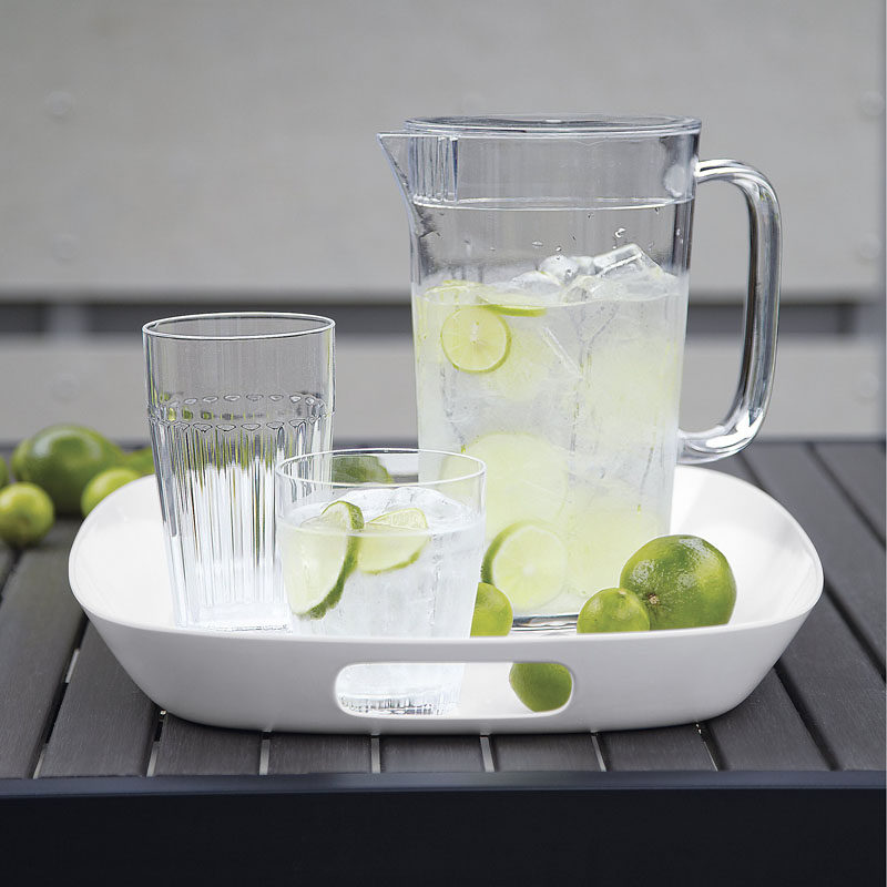 How To Make Your Balcony Awesome For Summer // It's always a good idea to have a tray on hand to make it easy to bring out all the things you need for a fun time on the balcony. This tray is made of melamine making it perfect for outdoor use.