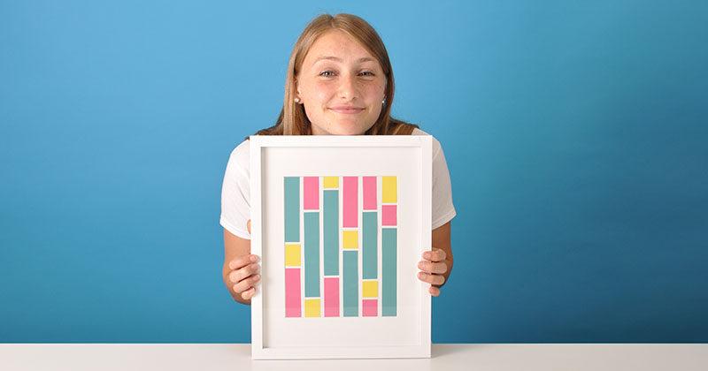 DIY ART PROJECT --- Make Your Own Modern Paint Chip Art