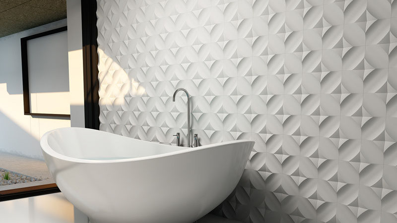 Bathroom Tile Ideas   Install 3D Tiles To Add Texture To Your Bathroom //  The