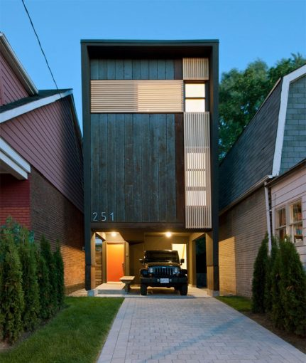 11 Small Modern House Designs From Around The World   CONTEMPORIST 11 Small Modern House Designs    This narrow house fits tightly between the  two houses