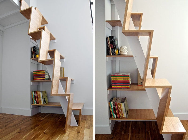 13 Stair Design Ideas For Small Spaces | Creative Stairs For Small Spaces | Build In Storage | Compact | Interior | Round Shape | Wooden