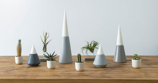 Designer Anca Fetcu has created Vulcano, a set of modern candle holders designed to mimic the look of lava pouring down the sides of a mountain.