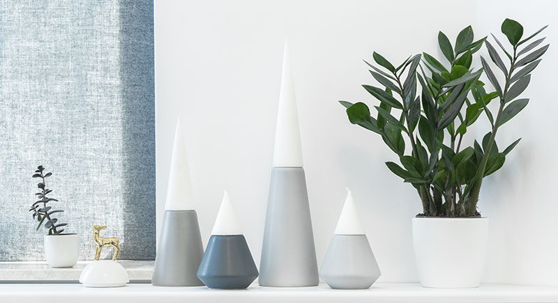 These creative candle holders are designed to look like a volcano