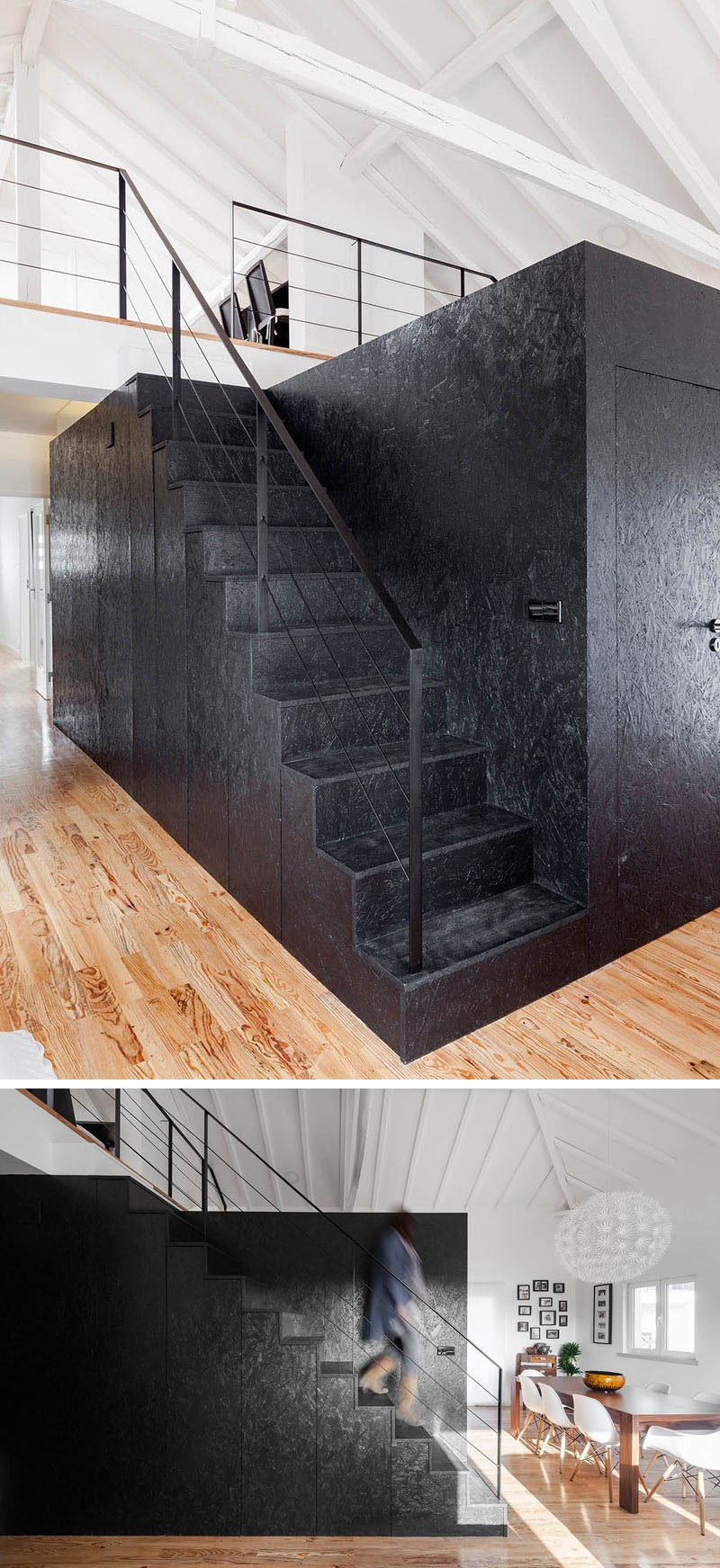 12 Black Stairs That Add A Sophisticated Touch To These Modern Homes | Black Granite Staircase Designs | Marble | Polished Granite | Floor Stair Circular | Kota Stone Staircase | Jet Black
