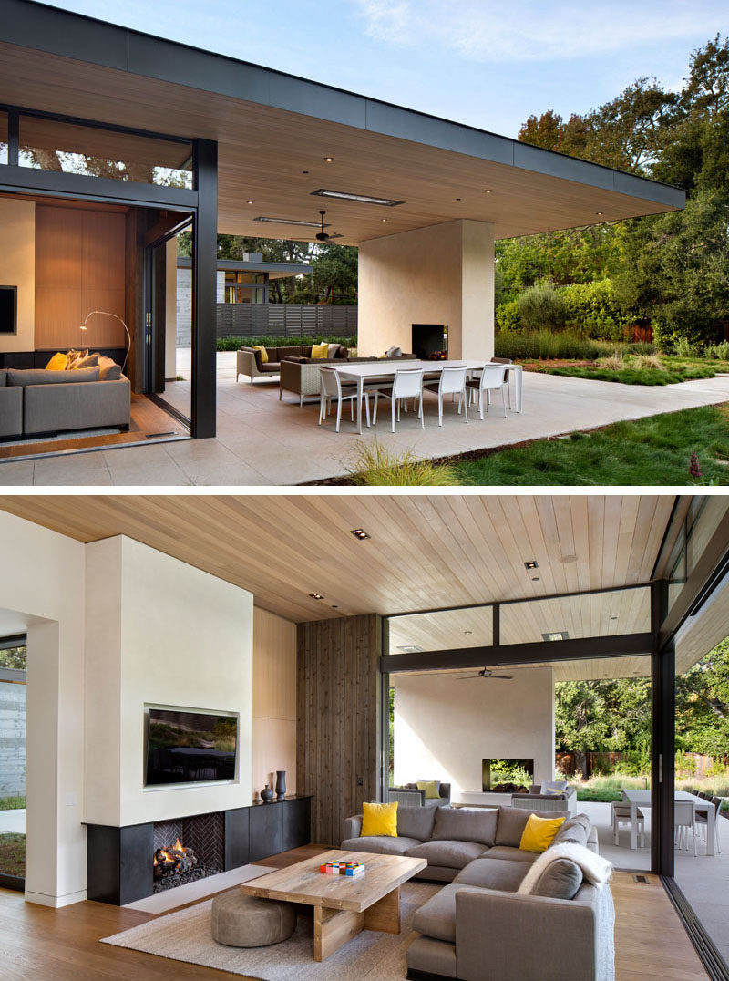 This California Home Preserved The Existing Trees To