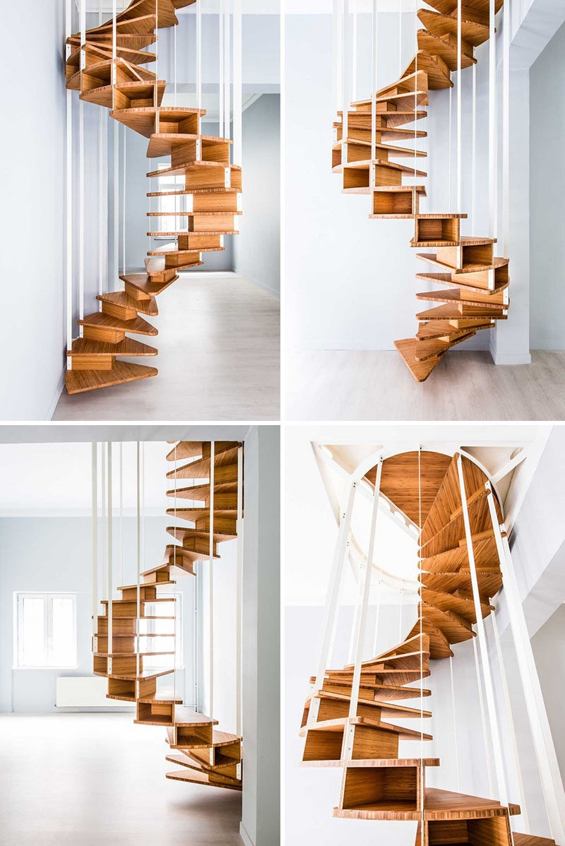 16 Modern Spiral Staircases Found In Homes Around The World   Used Spiral Staircase For Sale Near Me   Staircase Kits   Demose Hardware   Wrought Iron   Railing   Stainless Steel
