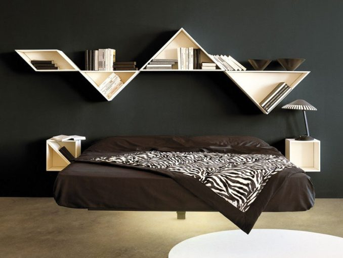 Supported by a meticulously designed single beam in the middle of it and secured to the wall by means of one of three headboard options, the Fluttua bed designed by Daniele Lago, appears to float effortlessly above the ground.
