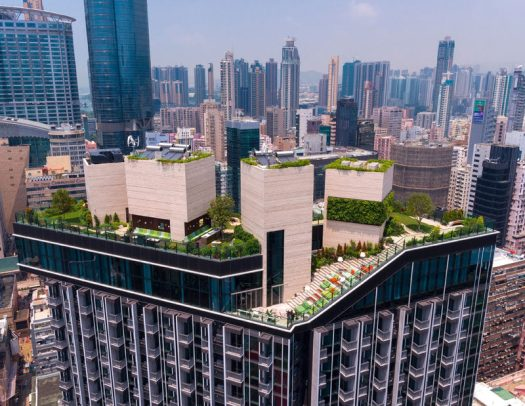 Hidden high above the busy streets of Mongkok, Hong Kong, is the recently completed Skypark, a rooftop residential clubhouse designed by architectural firm concrete.