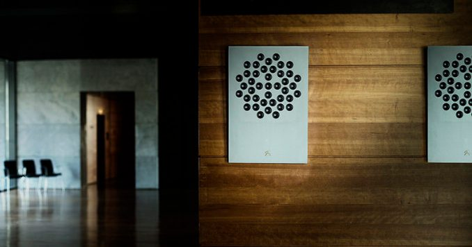 Concrete Audio have designed a collection of wireless wall mounted speakers that are made from concrete, wood, or a custom design, that allows them to look more like art hanging on the wall rather than a speaker.