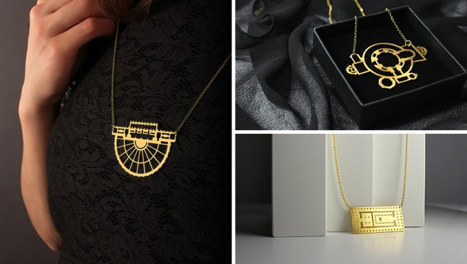 This minimalist and modern jewelry is inspired by architectural floor plans.