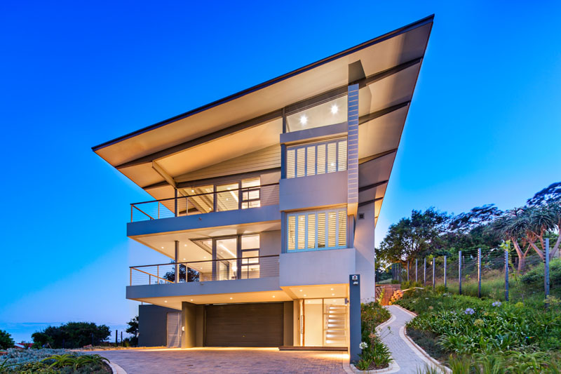 This modern house in South Africa was made with the intention of reinventing the 'beach house'.
