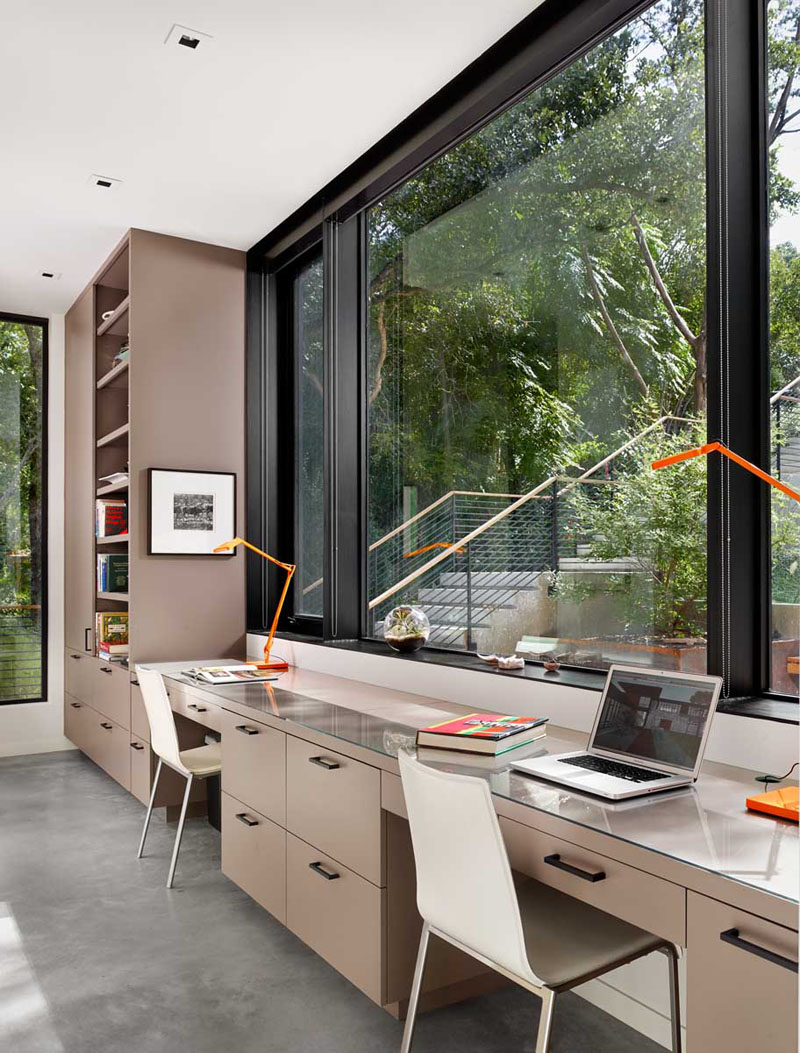 Best Kitchen Gallery: 15 Home Offices Designed For Two People Contemporist of Modern Home Office  on rachelxblog.com