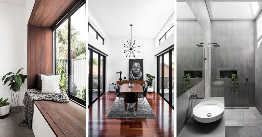 Janik Dalecki of Australian architecture firm Dalecki Design, has recently completed the renovation of a 100 year-old heritage listed home that included updating the facade as well as adding a modern extension.