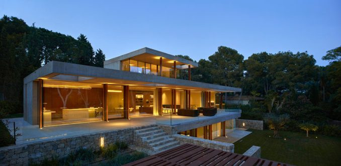 Architect Ramon Esteve has recently completed this modern house that sits on the outskirts of Madrid, Spain, in an area full of woodlands and pine trees.