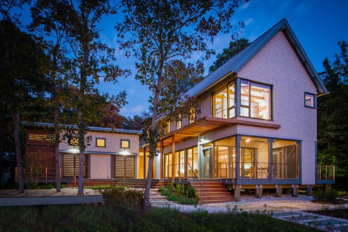 Gardner Architects have designed a contemporary house in Rehoboth, Delaware, that sits on the Lewes and Rehoboth Canal.