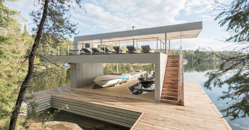 Cibinel Architecture Have Designed A Modern Boathouse With ...