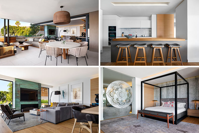 The Interior Design Of This Apartment Includes A Mixture Of Contemporary Materials Free Autocad Blocks Drawings Download Center