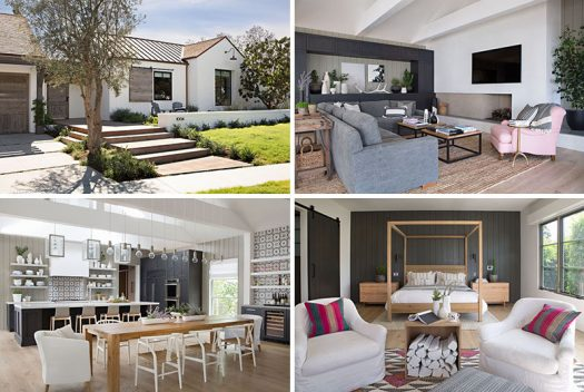 Interior design firm RailiCA design together with architect Eric Olsen and builder KRS Development, have designed a farmhouse-inspired, contemporary house in Newport Beach, California. #Architecture #Landscaping #HouseDesign