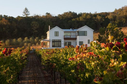 Architect Amy A. Alper, has recently completed a contemporary renovation and second story addition for a farmhouse in California, for a tech executive who traded in the startup lifestyle for grape growing. #ContemporaryFarmhouse #ModernFarmhouse