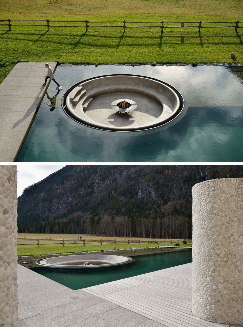 A Sunken Firepit At A Wellness Center In Slovenia Has
