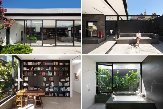 AM Architecture have designed a modern house in Melbourne, Australia, that makes use of glass walls to create an indoor / outdoor living environment. #ModernHouse #GlassWalls #Windows