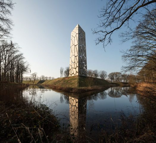 RO&AD Architecten have recently completedPompejus,a watchtower, an open-air theatre and an information point for tourists, that's located on Fort de Roovere in Halsteren, The Netherlands. #Watchtower #Lookout #Architecture #Design