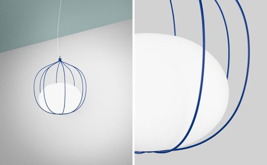 Swedish firmFront Design, have created 'Hoop',a new pendant lightthat has a slightly elliptical globe that rests within a system of rings. #Lighting #PendantLight #ModernLight