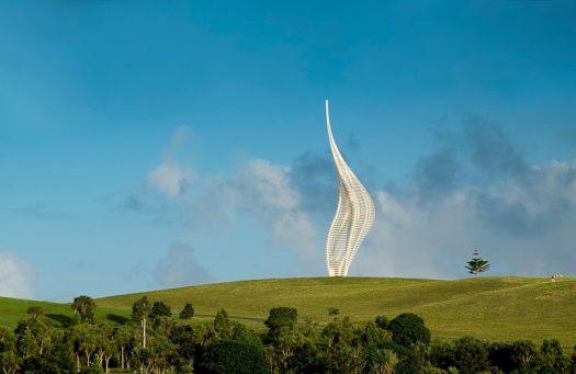 Gerry Judah has designed JACOB'S LADDER, a new sculpture for Gibbs Farm Sculpture Park, New Zealand. #Sculpture #PublicArt #Art #Design
