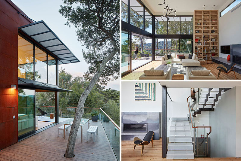 Zack   de Vito Architecture + Construction have designed a modern house that sits on a hillside in Mill Valley, California. #Architecture #ModernHouse #HouseDesign