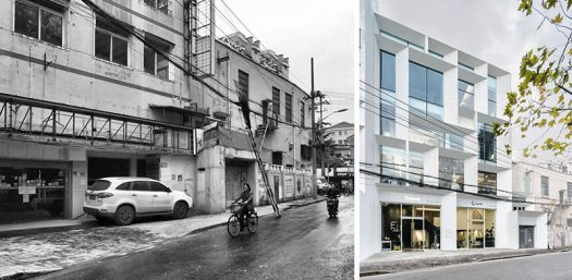 BEFORE & AFTER - Lacime ARCHITECTS has transformed a property with several run down buildings inShanghai, China, and changed it into a bright and welcoming office building with commercial spaces. #Architecture #BuildingDesign