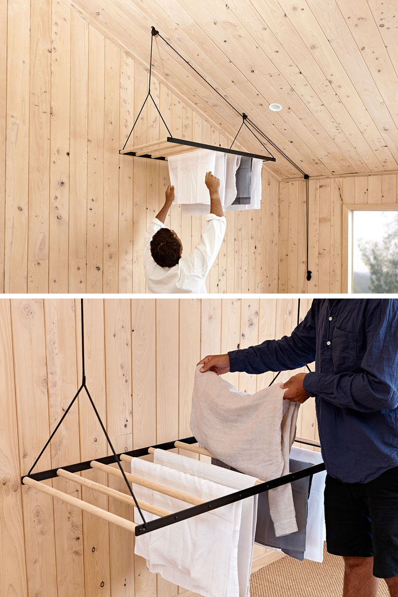 suspended drying rack