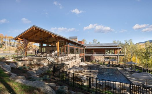 Craine Architecture has recently completed a new activity center for the Summit Sky Ranch in Silverthorne, Colorado, that features plenty of wood, stone, and glass. #Architecture #SwimmingPool