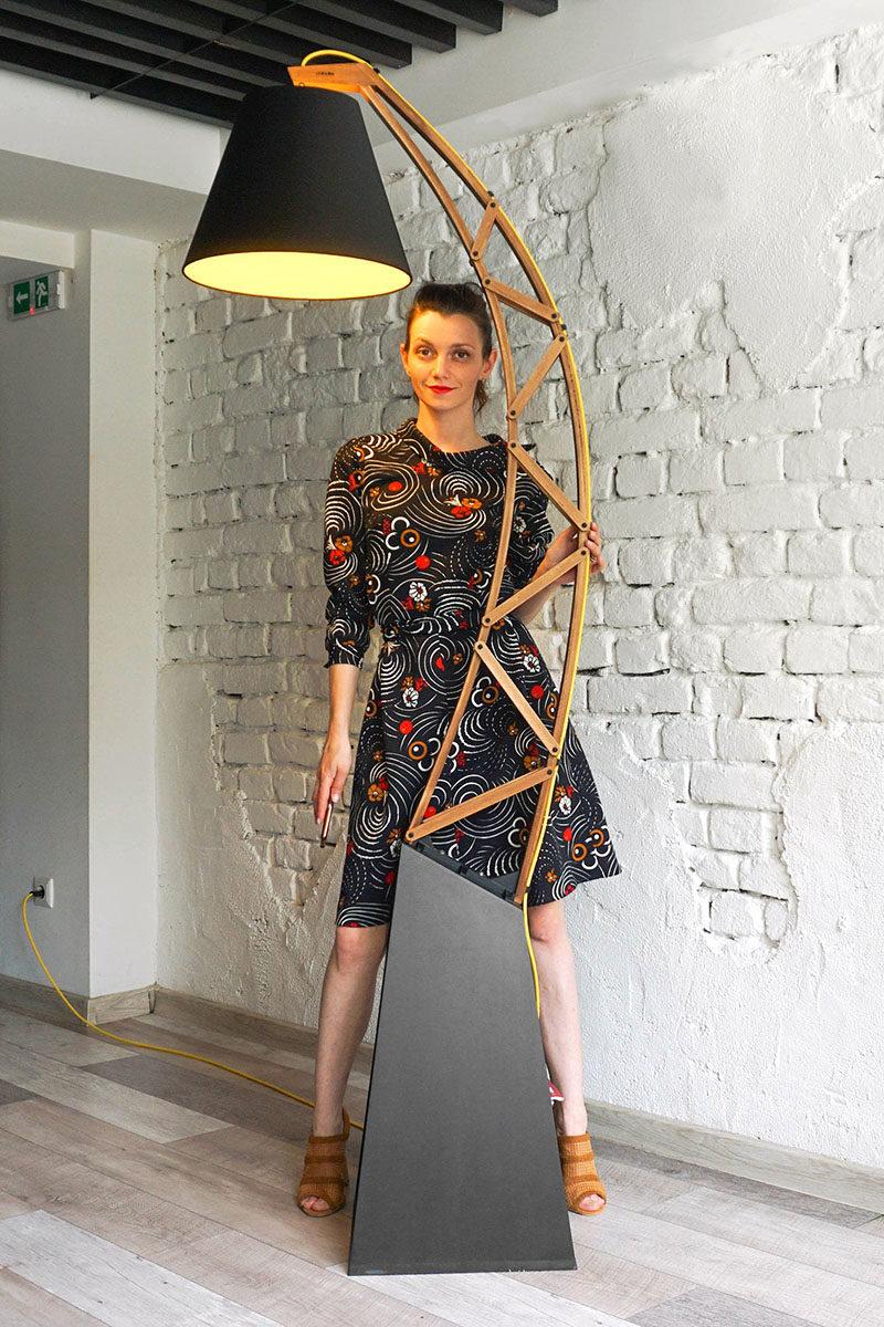 an oversized modern floor lamp by paladim