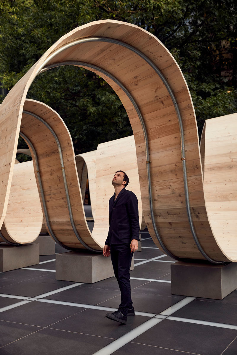 British designer Paul Cocksedge, has transformed an empty square in London with his latest furniture art installation titled 'Please Be Seating'. #PublicArt #PublicSeating #PublicFurniture #DesignInstallation #ArtInstallation #Design