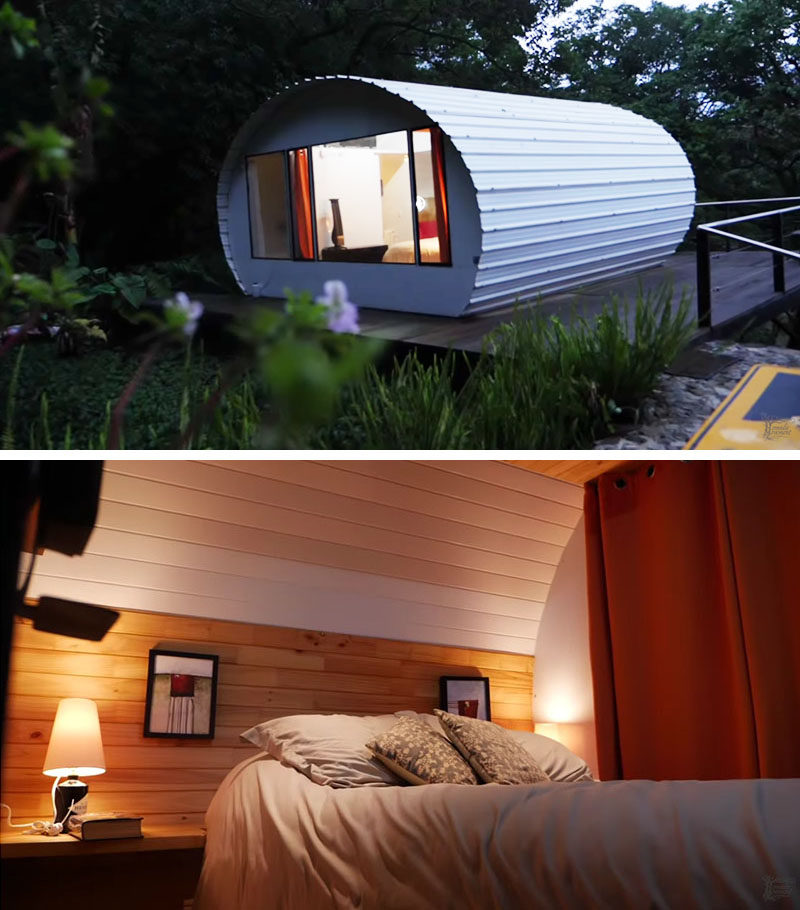 Kaylee of The Nomadic Movement, has shared a video of a modern tiny house that she visited in in Antigua, a city in the central highlands of Guatemala. #ModernTinyHouse #TinyHome #Architecture #SmallLiving #TinyLiving