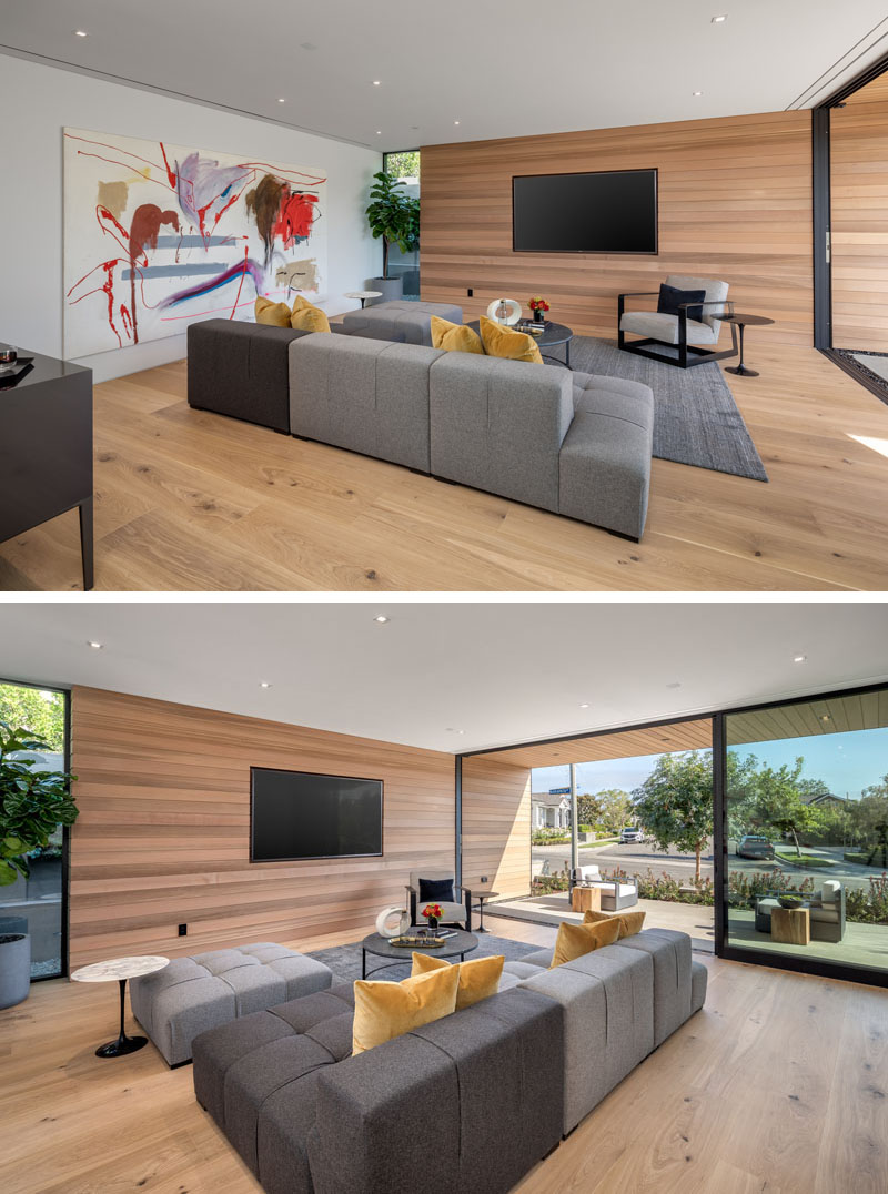 Modern Living Room Wood Accent Wall Glass Wall 021019 845 05