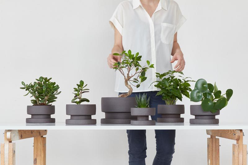 Home Decor Ideas - Designer Zuzana Firla of porcelain studio Bisqit, has launched a collection of modern planters that have a simple aesthetic. #HomeDecorIdeas #ModernPlanters #ModernFlowerPots