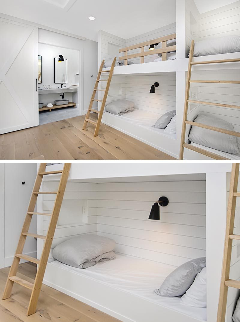 A Wall Of Built In Bunk Beds Creates Plenty Of Sleeping