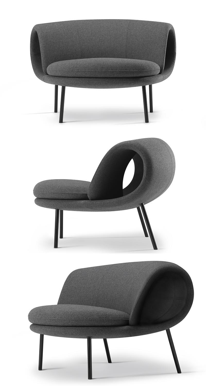 Jin Kuramoto Studio has designed The Maki Chair, a modern yet minimal chair whose shape has been inspired by sushi of the same name. #ModernFurniture #ModernSeating #FurnitureDesign